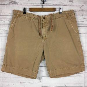 Polo RL Mens Brown Cotton Drawstring Shorts 42